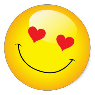 smiley face with heart eyes - clipart