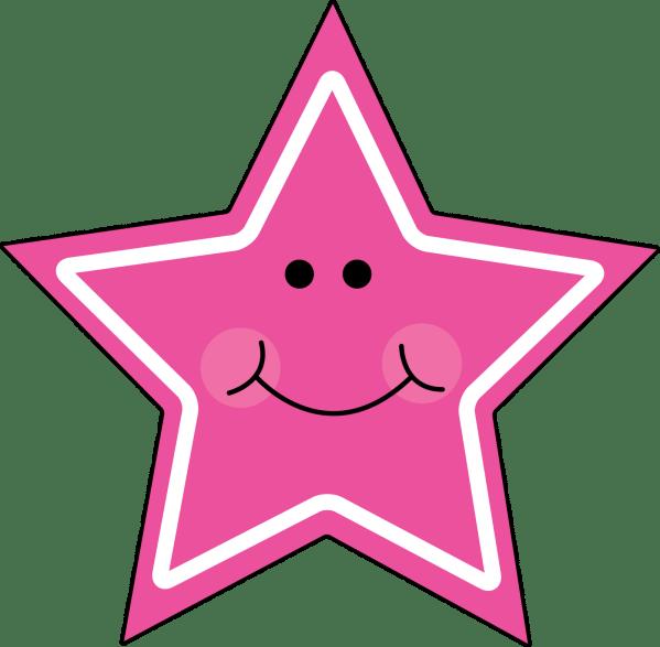pink star clip art - clipart
