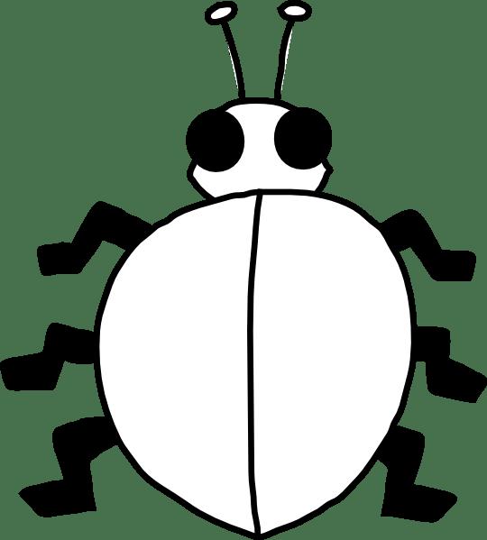 bug outline printable - clipart