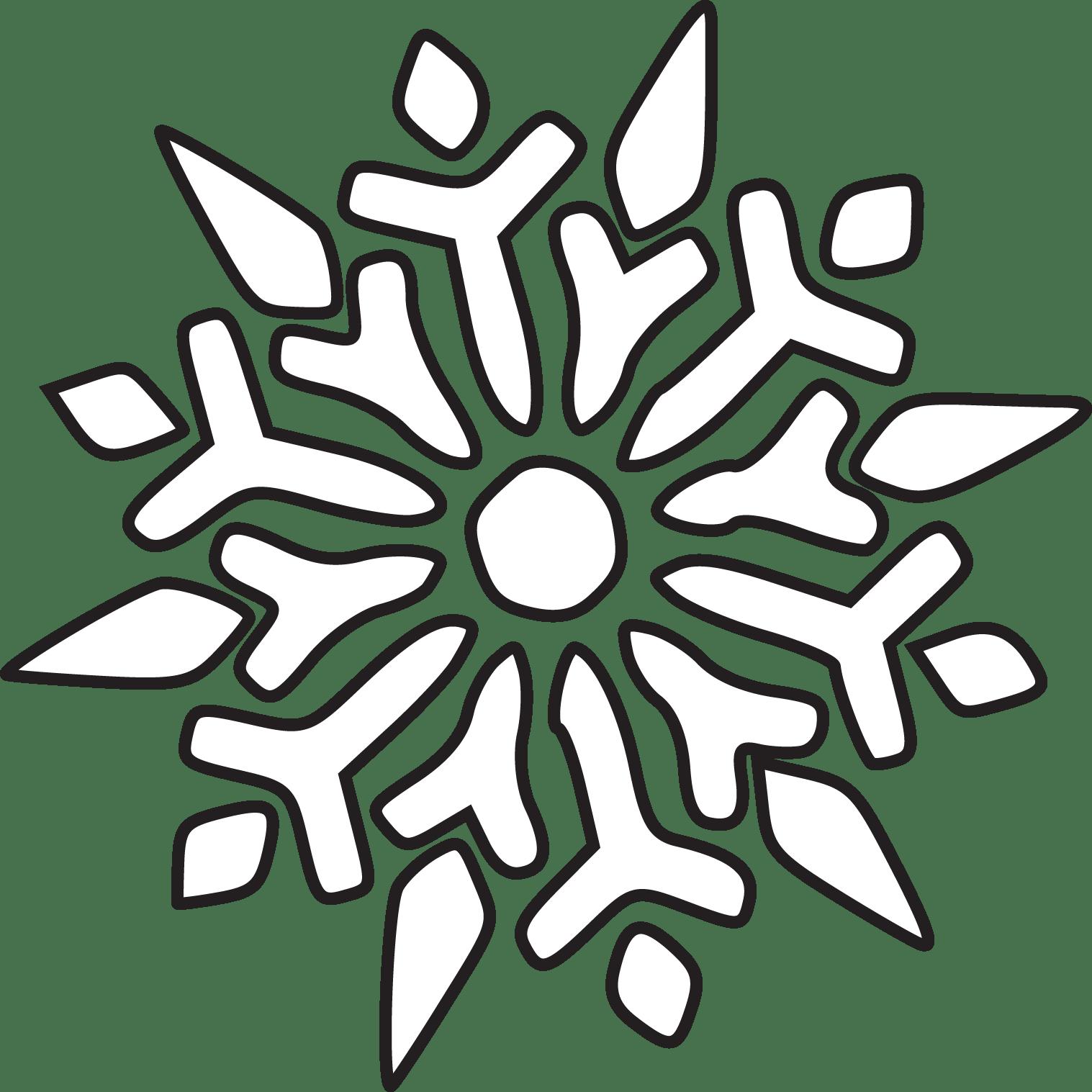 Snowflake Line Drawing