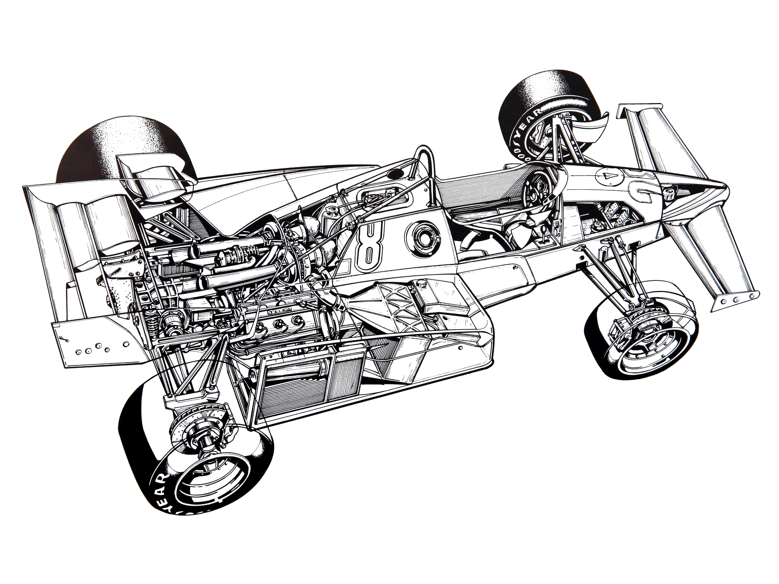 Racecar Drawing