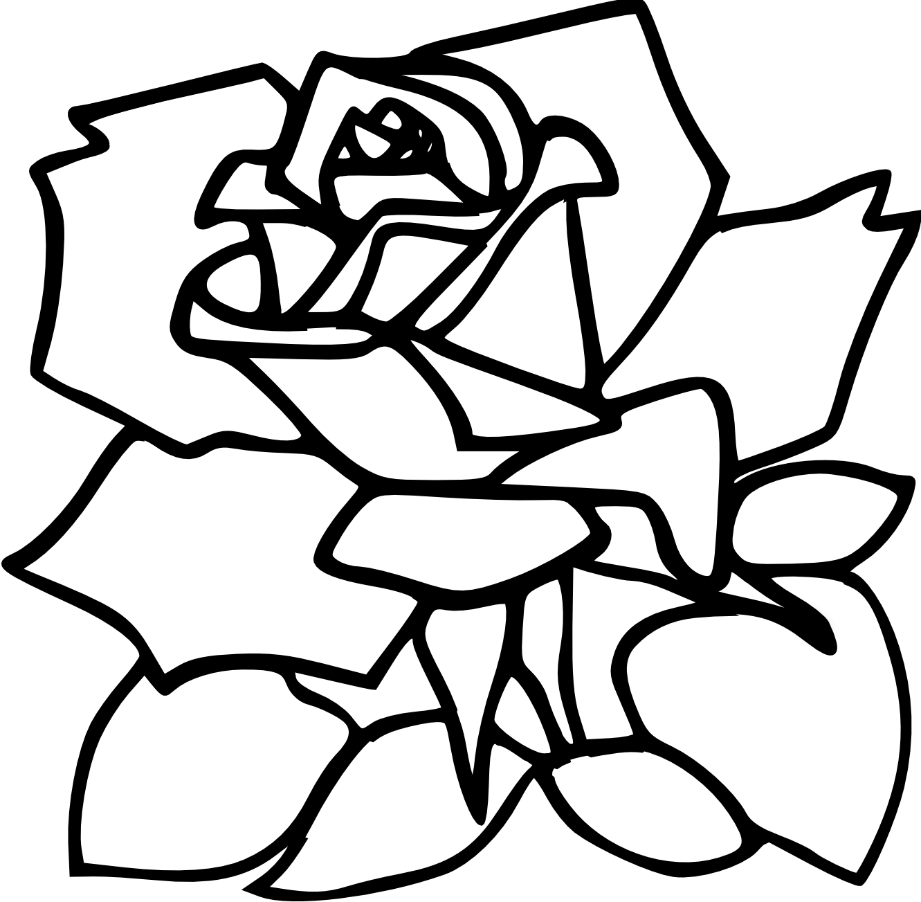 Zeimusu Red Rose Black White Line Art Tattoo Tatoo Svg