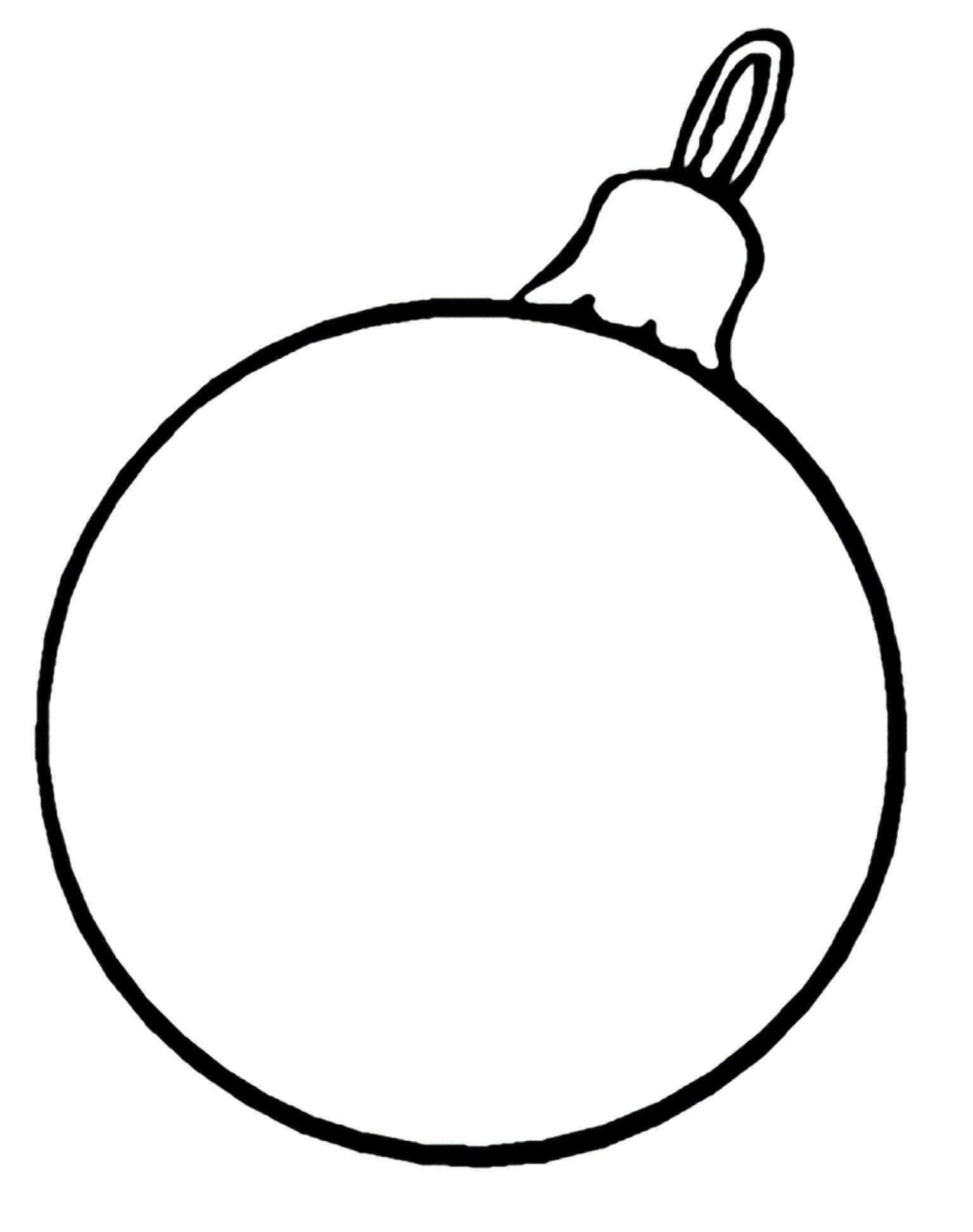 Christmas Ball Ornament Template