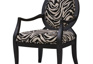 Zebra Print Chairs In Living Room