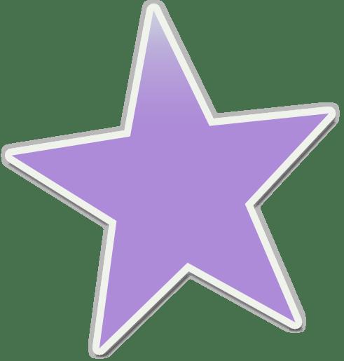 purple star clip art - clipart