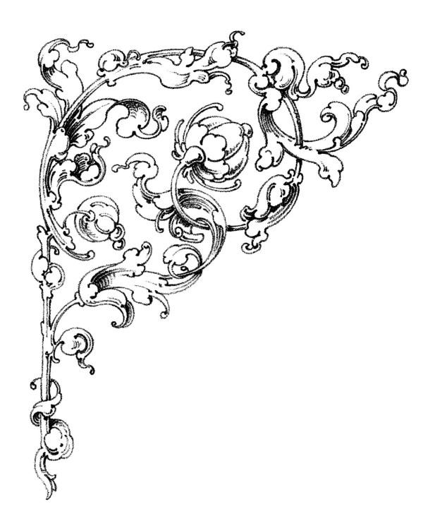 wedding scroll - clipart