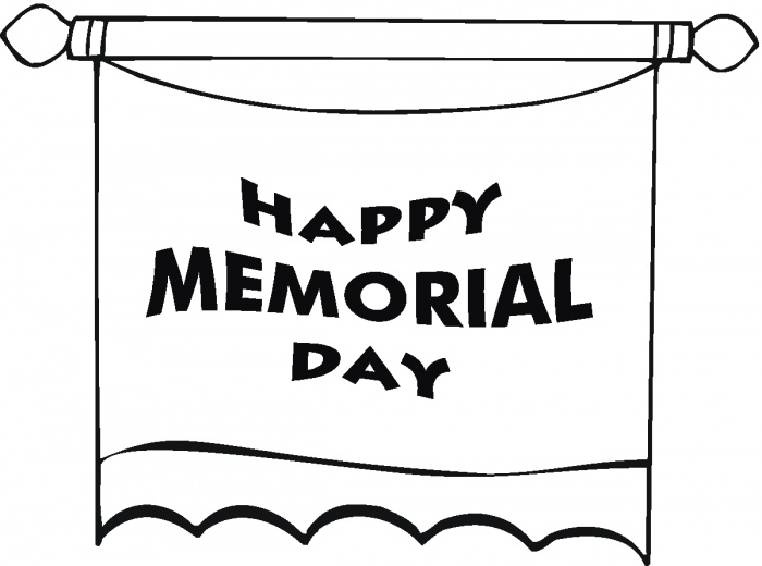 Memorial Day Poster With Stars Coloring Page Super
