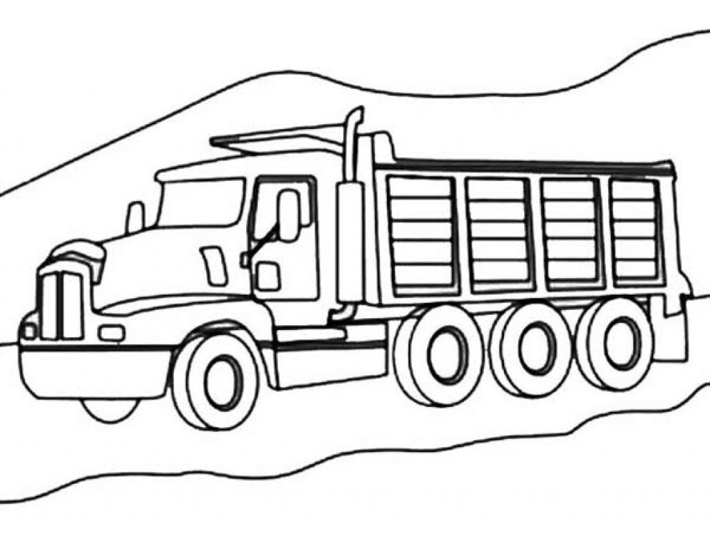 The Most Awesome Dump Truck Coloring Page For Warm
