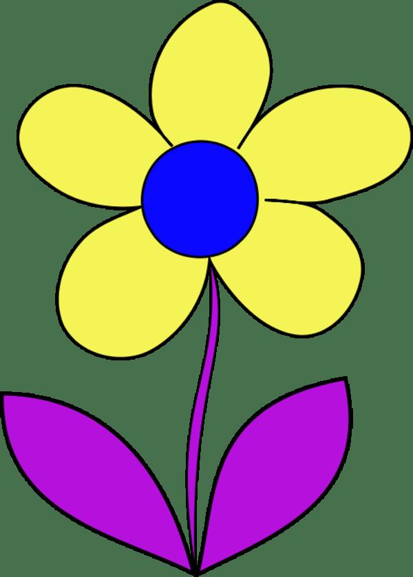 simple flower - clipart