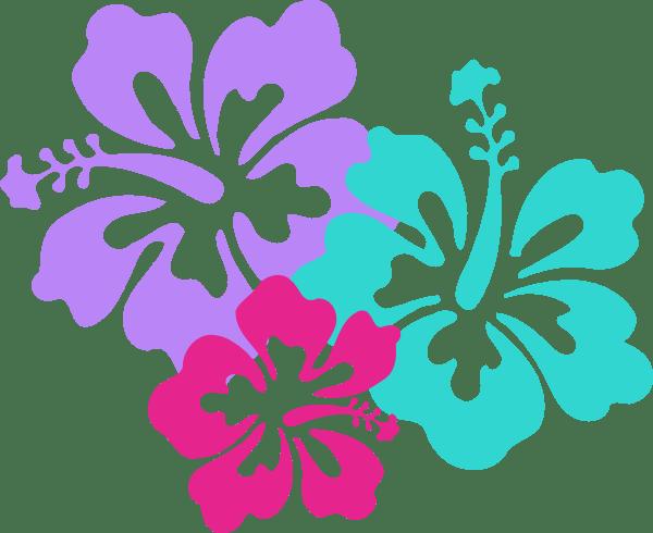 hawaiian flowers background - clipart