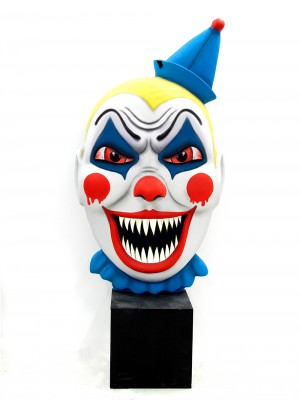 scary clown faces - clipart