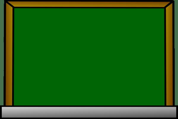 Green Chalkboard Clipart