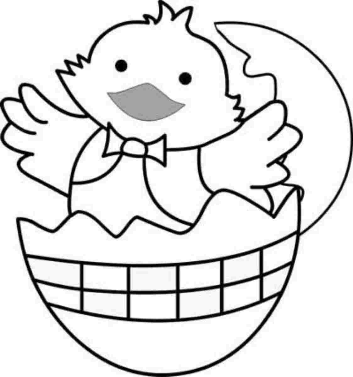 Easter Chick Colouring Sheets Printable For Kindergarten