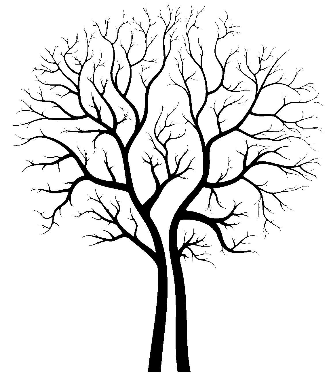 Tree Silhouette Stencil
