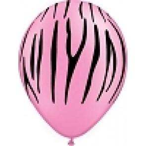pink zebra print bubble letters