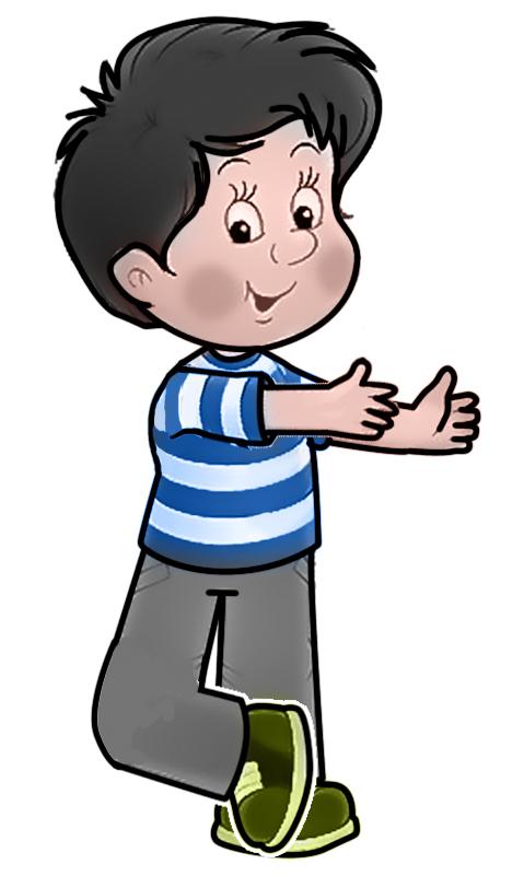 boy full body cartoon - clipart
