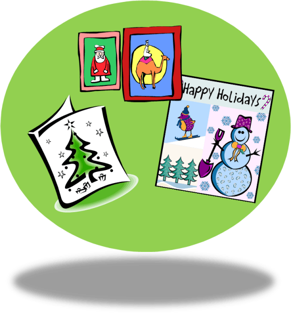 clip art christmas cards - clipart