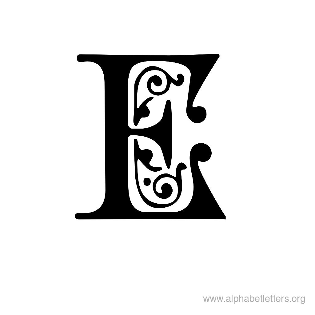 Decorative Letter E