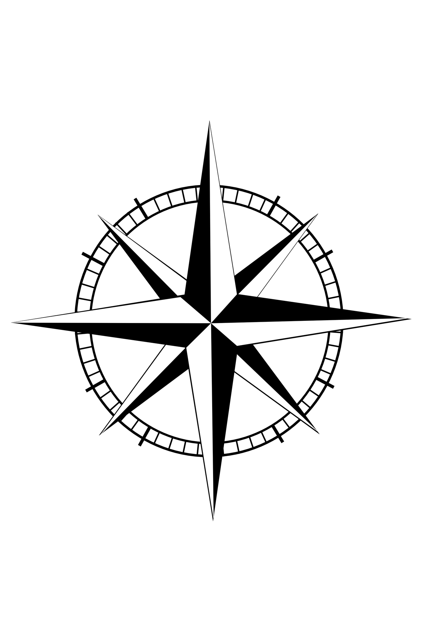 Rose Compass Tattoo Designs
