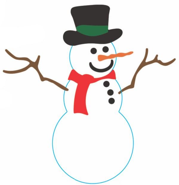 snowman - clipart