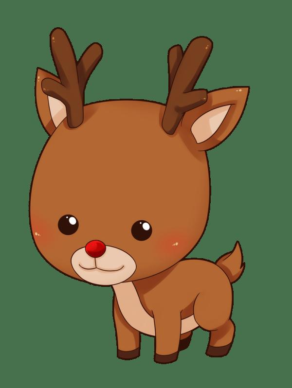 Cute Cartoon Reindeer Clip Art
