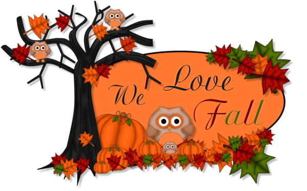 cute fall graphics with owls