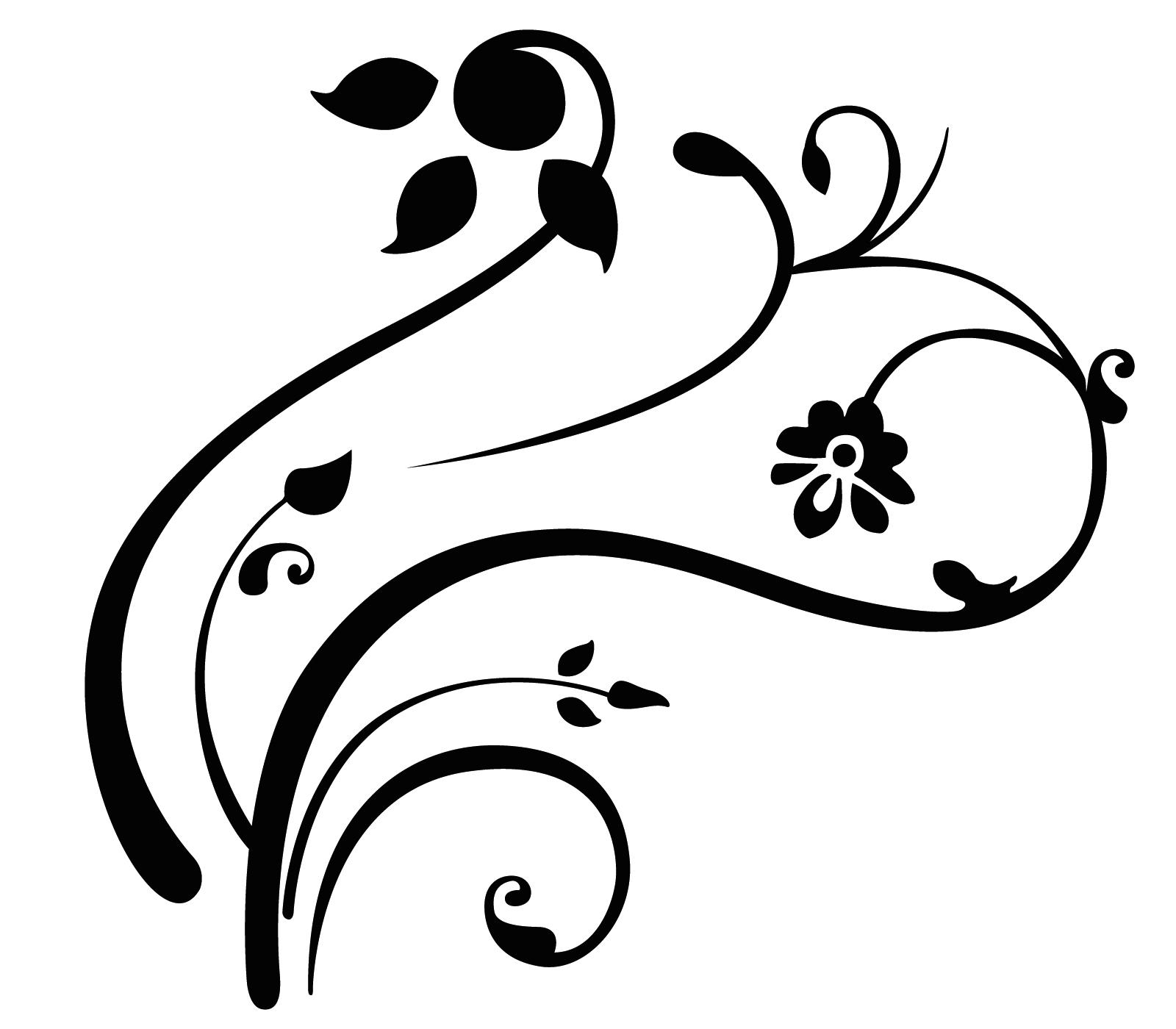 Free Simple Line Art Designs Swirls