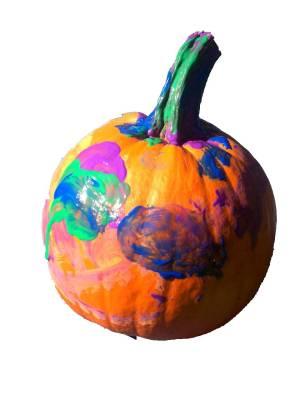 painted halloween pumpkin faces