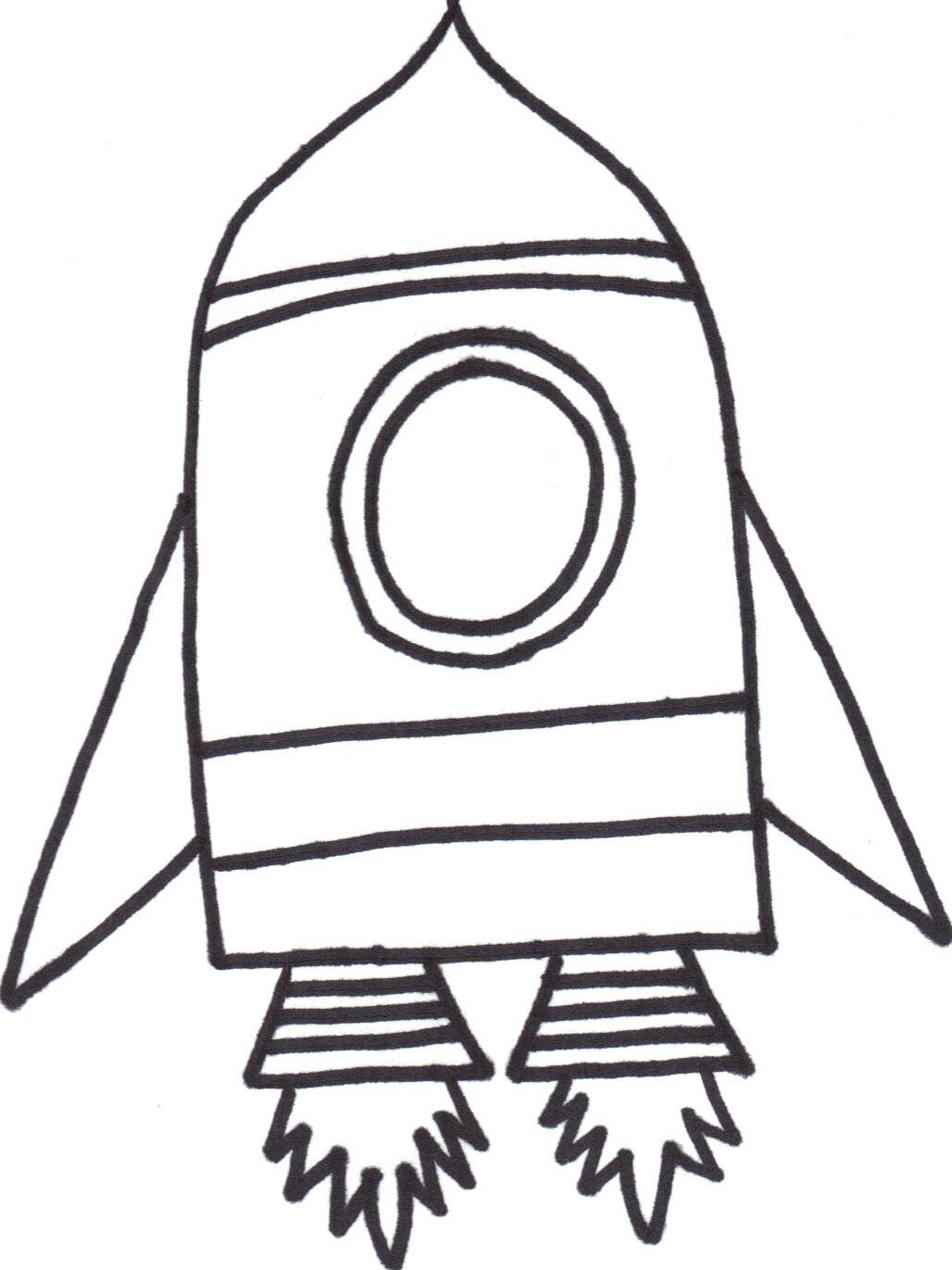 An Outline Of A Rocket
