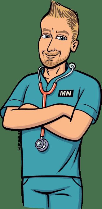 cartoon nurse - clipart