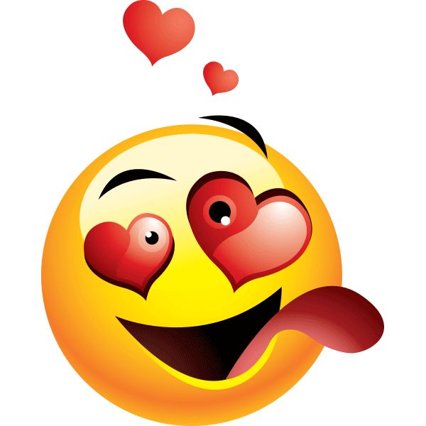 smiley love faces - clipart