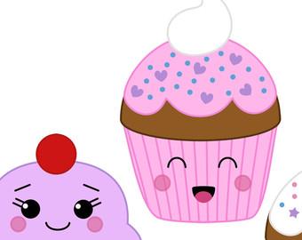cute cupcake - clipart