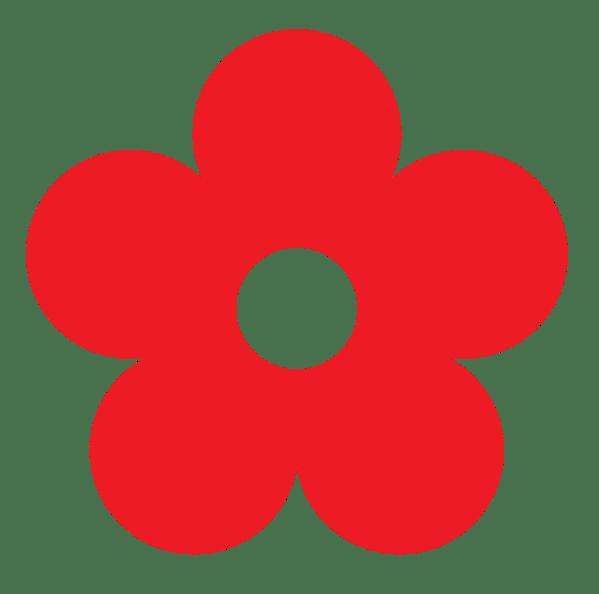 red flower clip art - clipart