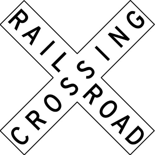 Railroad Crossing Coloring Sheet Coloring Pages