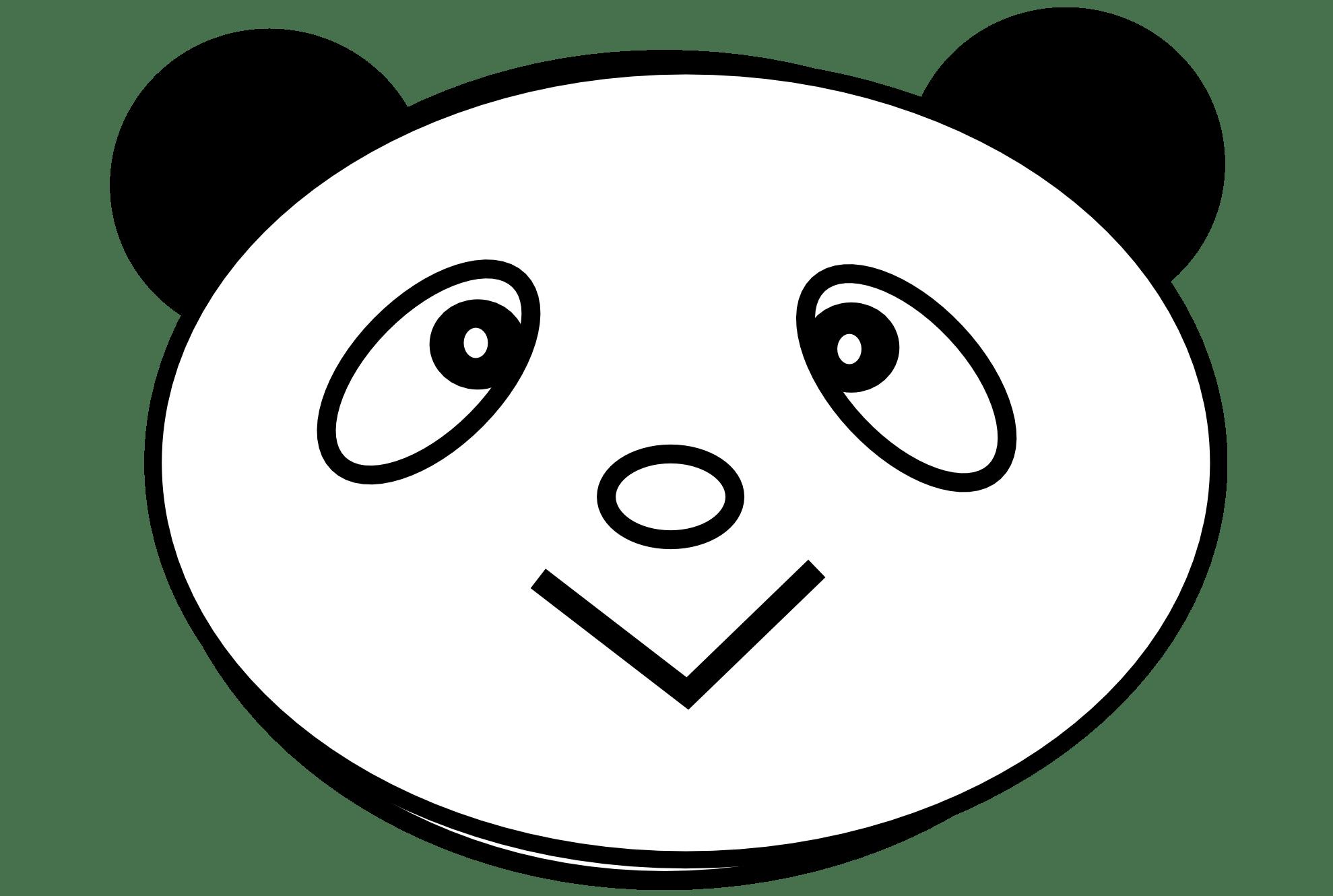 Panda Love Black White Line Teddy Bear Animal Art Coloring