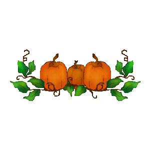 pumpkins and vines clip art - clipart