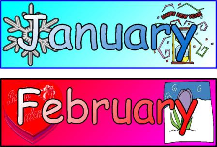 months of year - clipart