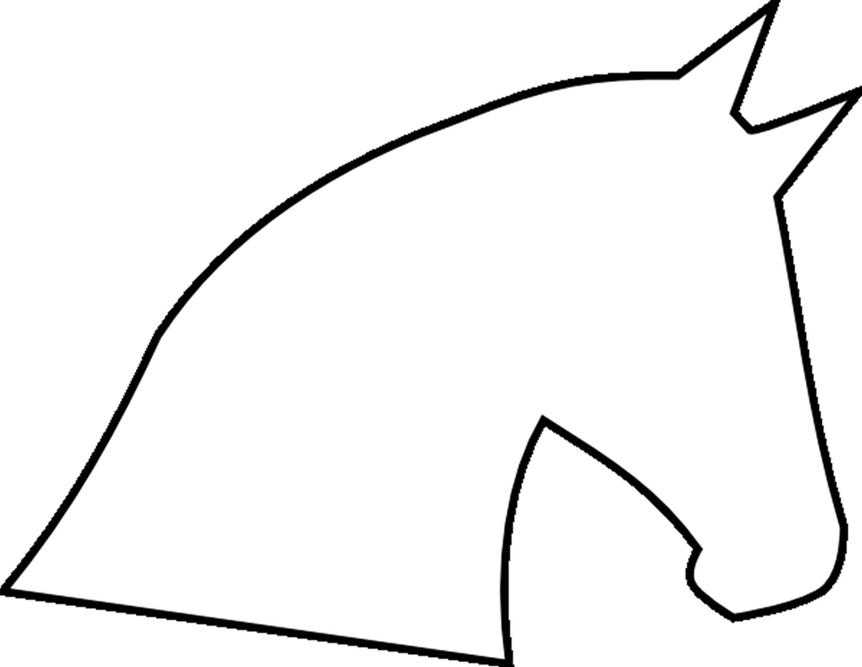 Pics For Gt Horse Craft Template