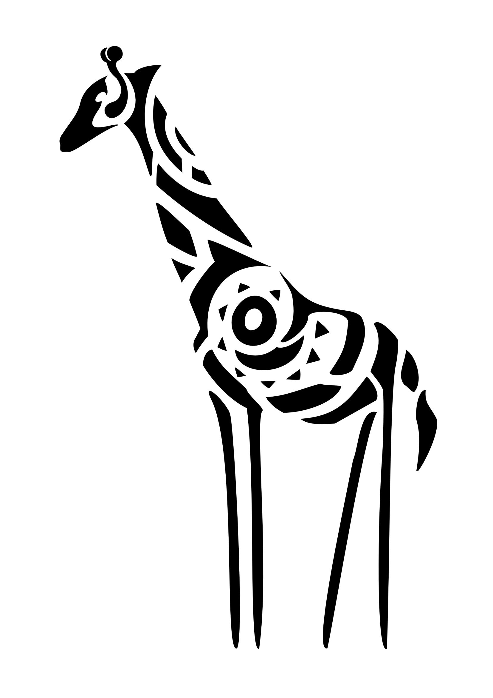 Tribal Pattern Giraffe
