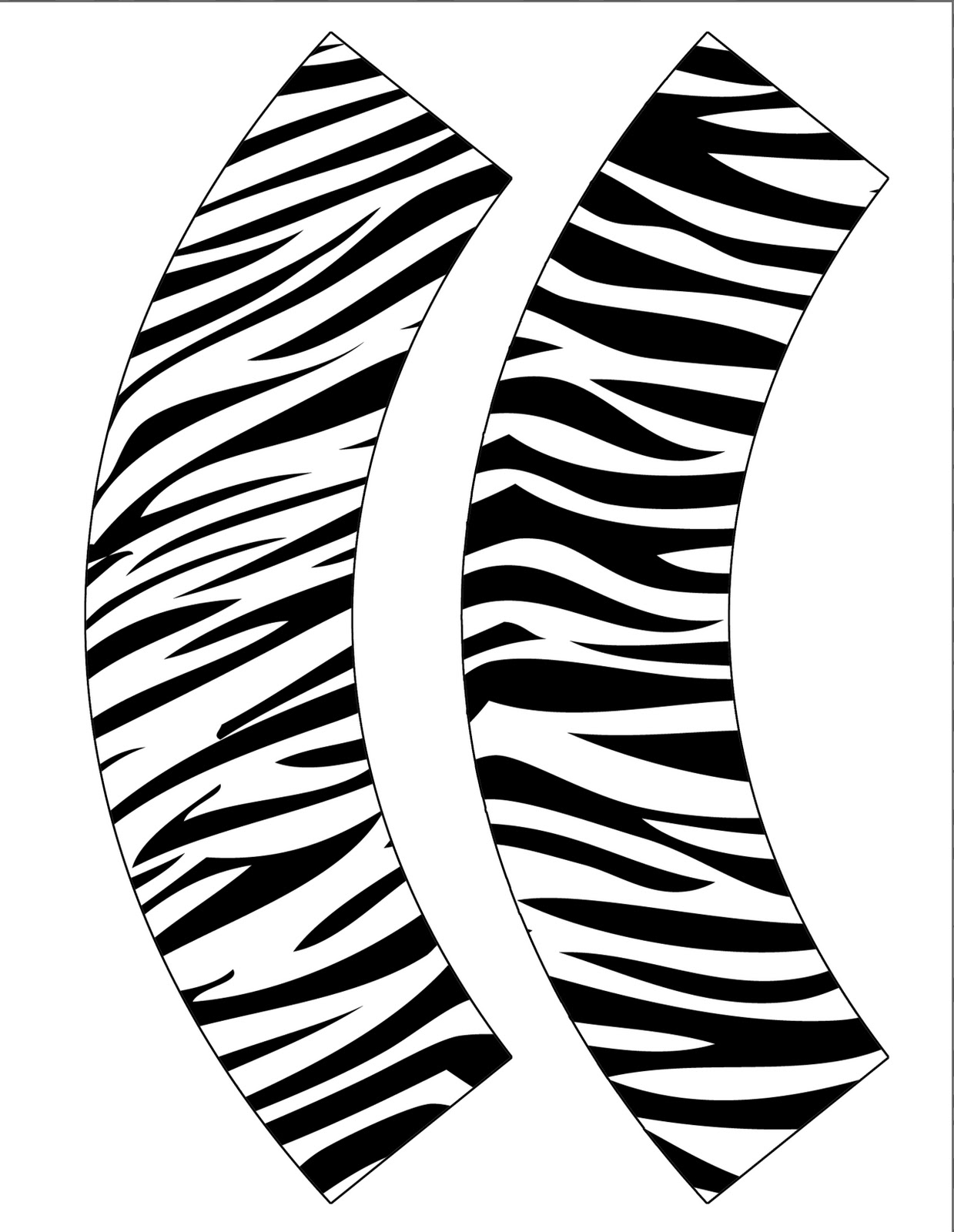 Laken S Creations Free Zebra Print Cupcake Wrappers Just