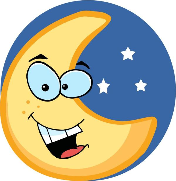 cartoon moon - clipart