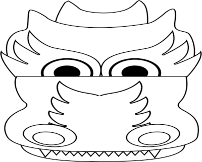 Chinese Dragon Head Coloring, dragon head coloring page