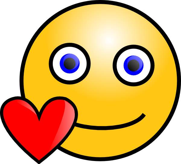love smiley face - clipart