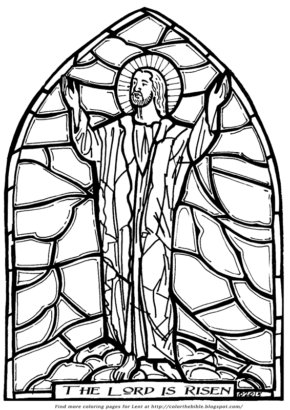 Jesus Face Stained Glass Page Coloring Pages