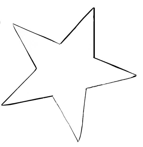 7 pointed star template - clipart