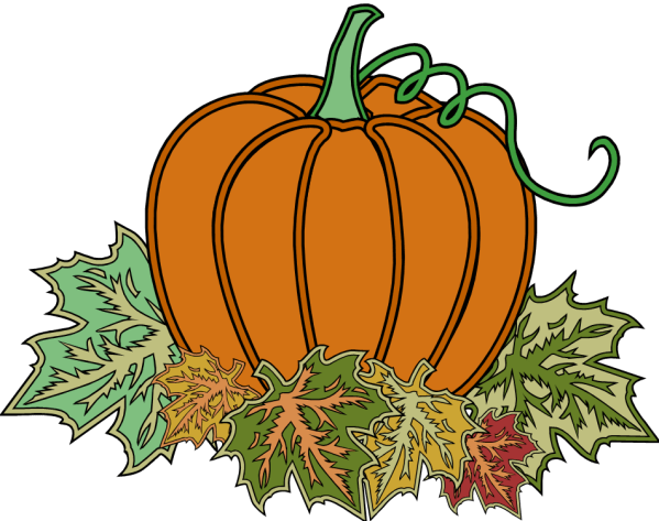 fall pumpkin - clipart