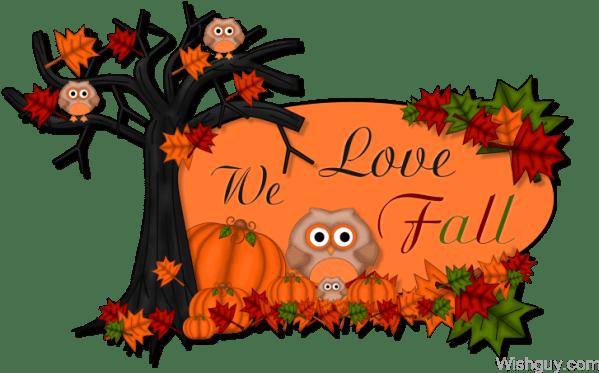 happy fall clip art - clipart