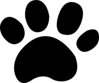 Cute Dog Paw Print
