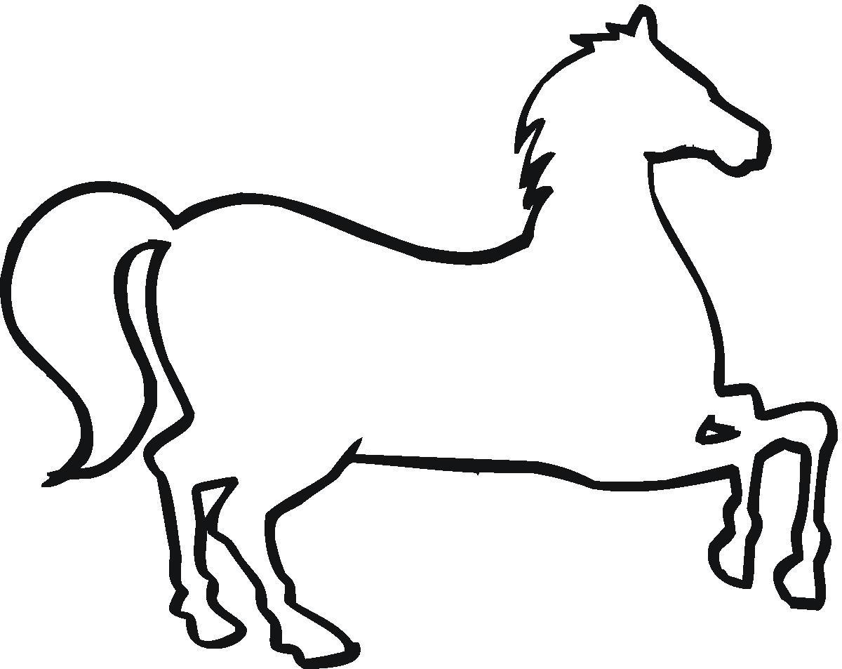 Horse Outline Clip Art