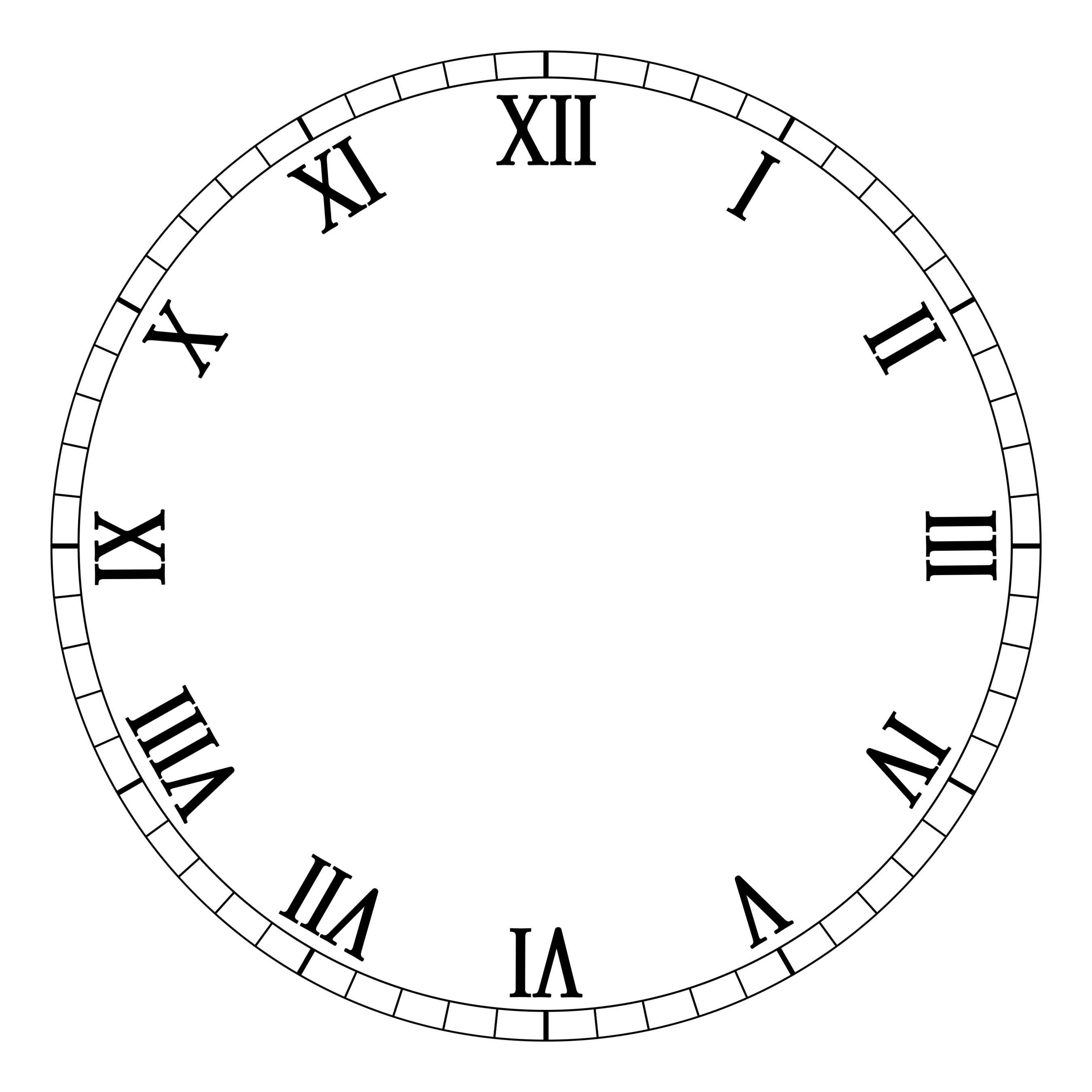 Clock Faces Without Hands